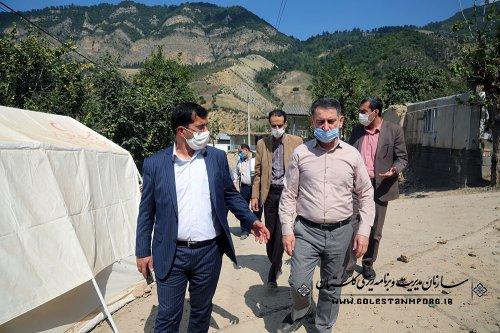بازدید رئیس سازمان از مناطق زلزله زده رامیان