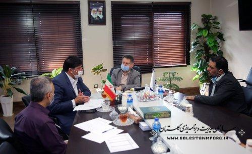 دیدار فرمانداران آق قلا و مینودشت با رئیس سازمان