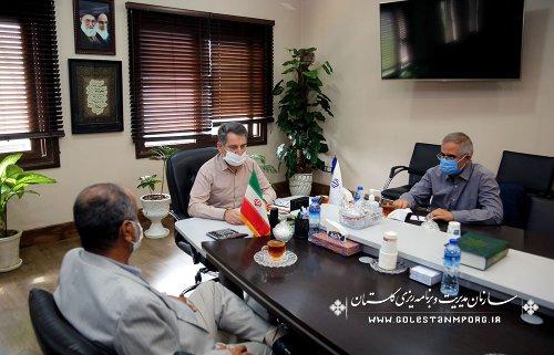 جلسه رئیس سازمان با نماینده مردم شریف شهرستانهای کردکوی،بندرترکمن،بندرگز و گمیشان