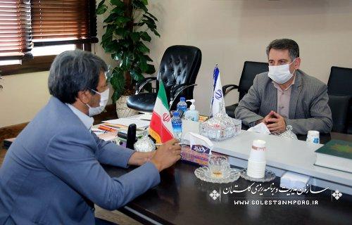 جلسه رئیس سازمان با نماینده مردم شریف شهرستان گنبد