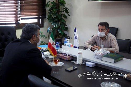 جلسه رئیس سازمان با فرماندار شهرستان رامیان