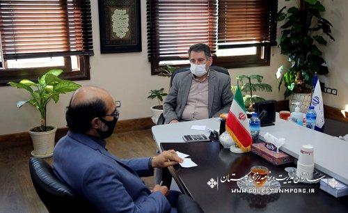 جلسه رئیس سازمان با مدیرعامل شرکت آب منطقه ای گلستان
