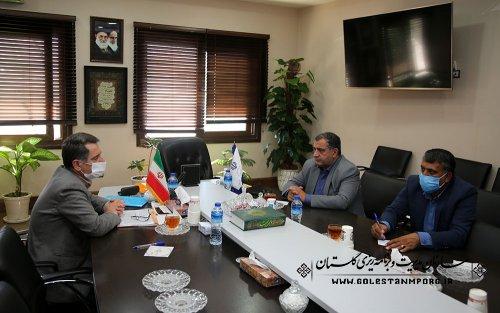 جلسه رئیس سازمان با نماینده مردم شریف شهرستان مینودشت،گالیکش،کلاله و مراوه تپه