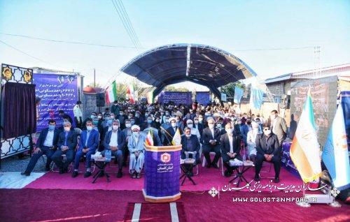 حضور رئیس سازمان در جشن پایان بازسازی مناطق سیل زده کشور به میزبانی گلستان