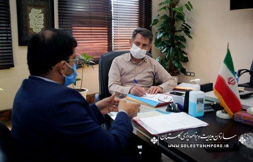 جلسه رئیس سازمان با مدیرکل بنیاد مسکن استان