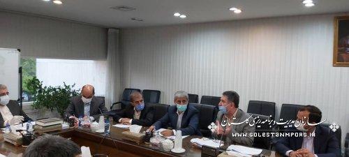 حضور رئیس سازمان در نشست مشترک با وزیر نیرو،استاندار و نمایندگان گلستان