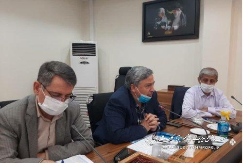 حضور رئیس سازمان در جلسه جمع بندی سفر معاون وزیر نیرو به استان گلستان