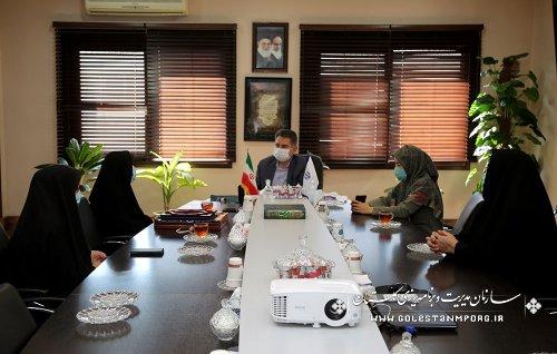 مدیرکل دفتر بانوان استانداری با رئیس سازمان دیدار کرد