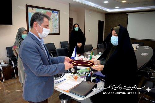 حمایت رئیس سازمان در راستای تدوین شاخص های آماری حوزه بانوان در سامانه سیمابر گلستان
