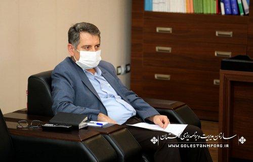 جلسه مدیرعامل نمایشگاه بین المللی استان با رئیس سازمان مدیریت و برنامه ریزی استان گلستان