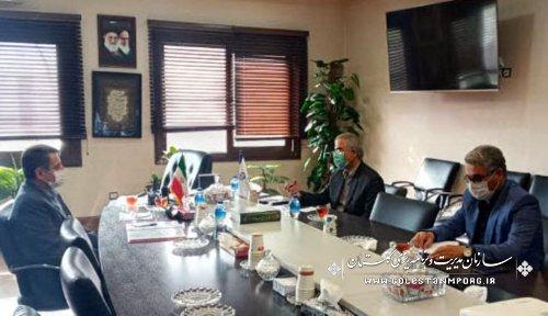 دیدار نماینده مردم شریف شهرستانهای کردکوی،بندرترکمن،بندرگز و گمیشان با رئیس سازمان
