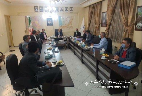 حضور رئیس سازمان در جلسه مجمع نمایندگان گلستان در تهران با هدف تاکید بر پروژه های محوری گلستان