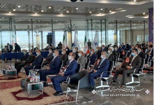 حضور رئیس سازمان در آیین بهره برداری از طرح های فرودگاهی استان گلستان