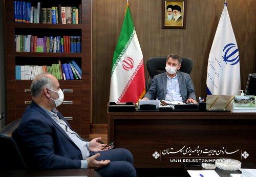 جلسه  مدیرکل هواشناسی استان با رئیس سازمان مدیریت و برنامه ریزی استان گلستان