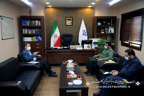 جلسه مدیرکل حفظ آثار و ارزشهای دفاع مقدس با رئیس سازمان مدیریت و برنامه ریزی استان گلستان