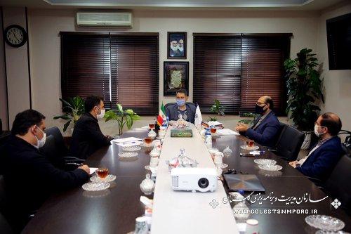 جلسه مدیرعامل شرکت آب منطقه ای استان با رئیس سازمان مدیریت و برنامه ریزی استان گلستان