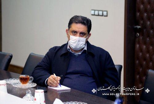 جلسه رئیس سازمان مدیریت و برنامه ریزی استان گلستان با مدیرعامل شرکت آب منطقه ای استان