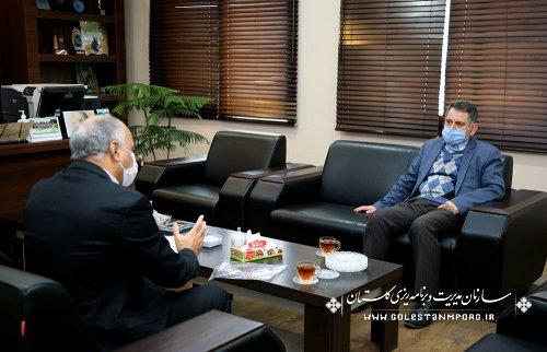 جلسه مدیرکل دامپزشکی استان با رئیس سازمان مدیریت و برنامه ریزی استان گلستان