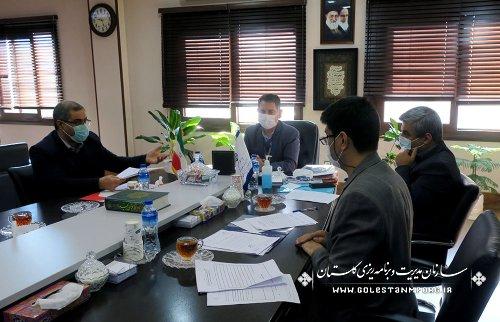 جلسه رئیس دانشگاه علوم پزشکی و مدیرکل بنیاد شهید استان با رئیس سازمان مدیریت و برنامه ریزی استان گلستان
