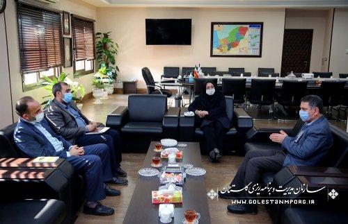 جلسه رئیس سازمان مدیریت و برنامه ریزی استان گلستان با مدیرکل زندانهای استان