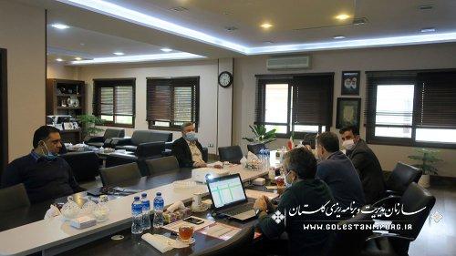 جلسه معاون هماهنگی امورعمرانی استانداری و مدیرکل دارایی استان با رئیس سازمان مدیریت و برنامه ریزی