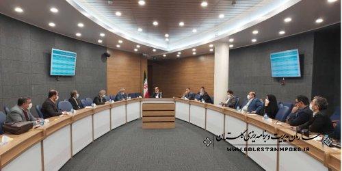 حضور رئیس سازمان در نشست هم اندیشی نمایندگان استان و استاندار گلستان با محوریت لایحه بودجه 1400