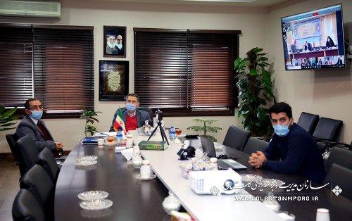حضور رئیس سازمان مدیریت و برنامه ریزی استان در جلسه شورای فرهنگ عمومی از طریق وبینار