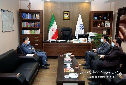 جلسه رئیس سازمان مدیریت و برنامه ریزی استان گلستان با فرماندار بندرگز