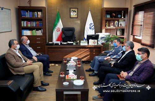 دیدار رئیس پژوهشگاه هواشناسی کشور و مدیرکل هواشناسی استان با رئیس سازمان مدیریت و برنامه ریزی استان گلستان