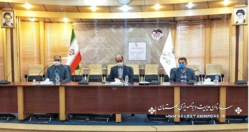 حضور رئیس سازمان مدیریت و برنامه ریزی استان گلستان در آیین قدردانی از دست اندرکاران صنعت آب و برق بصورت وبینار با وزیر نیرو