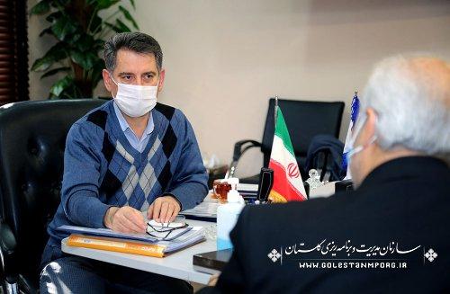 جلسه رئیس سازمان مدیریت و برنامه ریزی استان گلستان با مدیرکل انتقال خون استان