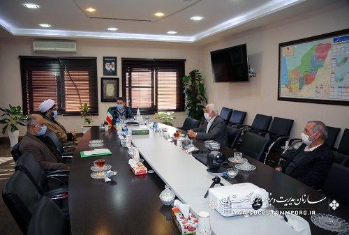 جلسه رئیس سازمان مدیریت و برنامه ریزی استان گلستان با مدیرکل اوقاف و امور خیریه استان