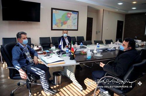 جلسه رئیس سازمان مدیریت و برنامه ریزی استان گلستان با مدیرکل تعاون،کار و رفاه اجتماعی استان