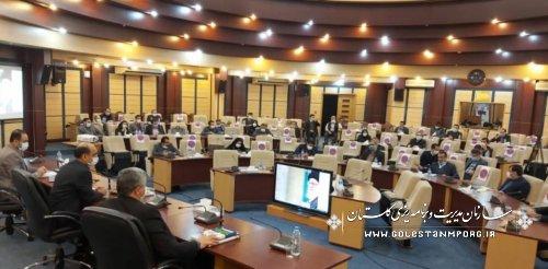 حضور رئیس سازمان مدیریت و برنامه ریزی استان گلستان در جلسه ستاد هماهنگی و پیگیری مناسب سازی استان