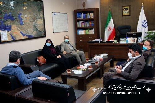 جلسه رئیس سازمان مدیریت و برنامه ریزی استان گلستان با شهردار و شورای شهر نوکنده