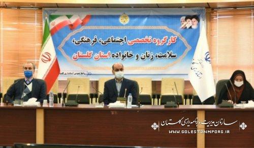 حضور رئیس سازمان مدیریت و برنامه ریزی استان گلستان در چهارمین کارگروه تخصصی اجتماعی،فرهنگی،سلامت،زنان و خانواده