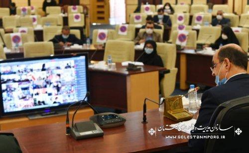 حضور رئیس سازمان مدیریت و برنامه ریزی استان گلستان در جلسه استانی ستاد پیشگیری و مقابله با کرونا