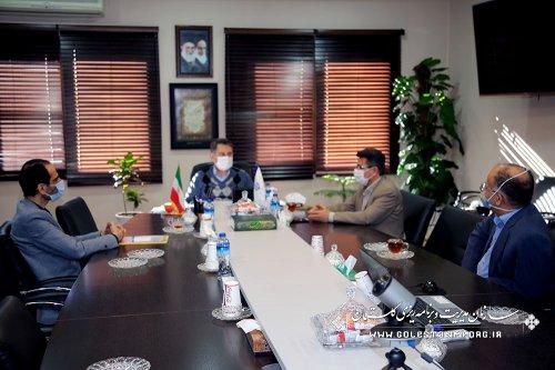 جلسه رئیس سازمان مدیریت و برنامه ریزی استان گلستان با مدیرکل بحران استانداری
