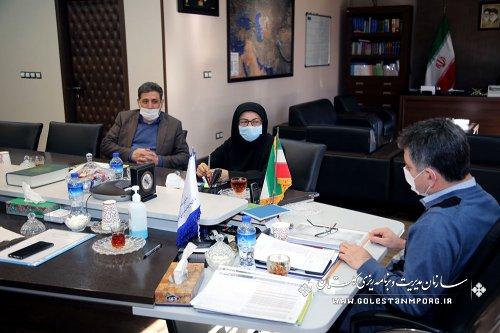 جلسه رئیس سازمان مدیریت و برنامه ریزی استان گلستان با معاونت توسعه مدیریت و منابع استانداری