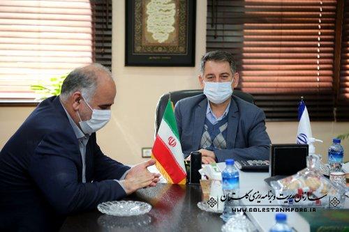 جلسه رئیس سازمان مدیریت و برنامه ریزی استان گلستان با مدیرکل هواشناسی استان