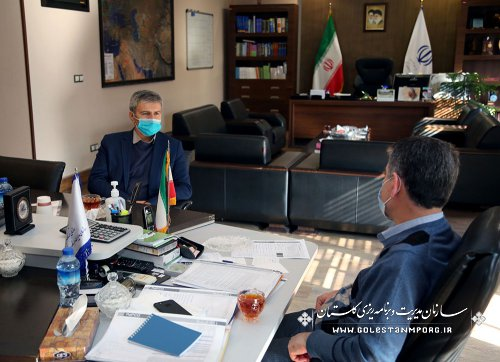 جلسه رئیس سازمان مدیریت و برنامه ریزی استان گلستان با سرپرست اداره کل منابع طبیعی استان