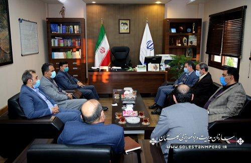 جلسه رئیس سازمان مدیریت و برنامه ریزی استان گلستان با معاون و مشاور رئیس سازمان زندانهای کشور