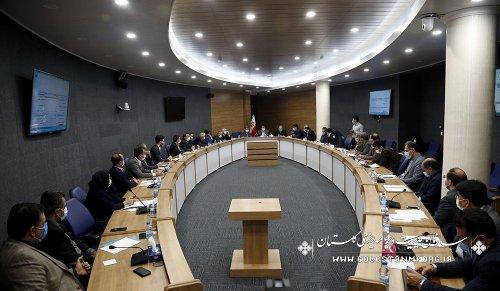 رئیس سازمان مدیریت و برنامه ریزی استان گلستان در جلسه کارگروه ویژه اقتصادی استان