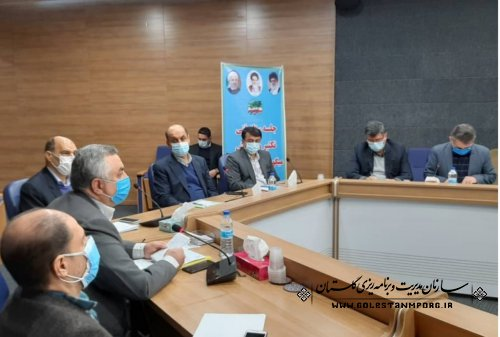 رئیس سازمان مدیریت و برنامه ریزی استان در جلسه فنی تکثیر و پرورش میگو استان