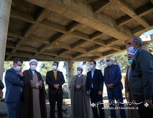 بازدید رئیس سازمان مدیریت و برنامه ریزی استان گلستان از مصلی نماز جمعه فاضل آباد به مناسبت آغاز دهه فجر