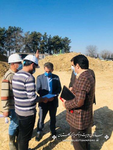 بازدید رئیس سازمان از طرح توسعه بیمارستان 600 تختخوابی گرگان،جایگزین بیمارستان 5آذر گرگان