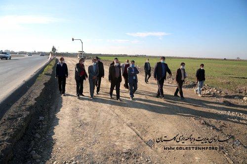 بازدید رئیس سازمان مدیریت و برنامه ریزی استان گلستان از طرح تعریض جاده آق قلا به گنبد