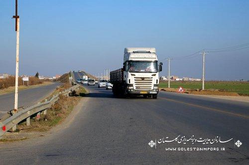 بازدید رئیس سازمان مدیریت و برنامه ریزی استان گلستان از محور آق قلا و بندرترکمن