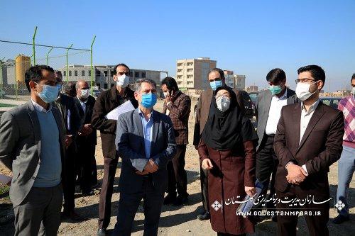 بازدید رئیس سازمان مدیریت و برنامه ریزی استان گلستان از پروژه های عمرانی آموزشکده پسران شهید چمران گرگان