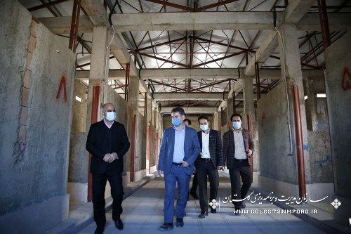 بازدید رئیس سازمان مدیریت و برنامه ریزی استان گلستان از مرکز تشخیص بیماری های اسب در گرگان